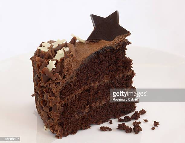 A piece of luxury, rich chocolate cake