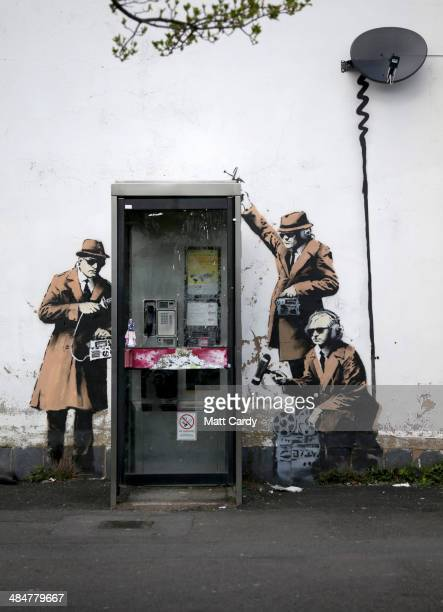 A piece of new graffiti street art claimed to be by the secretive underground guerilla artist Banksy which appeared on the side of a house in...
