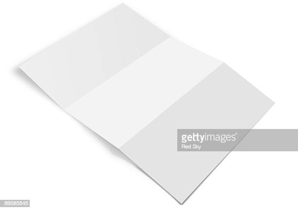 piece of paper on a white background - folded stock photos and pictures