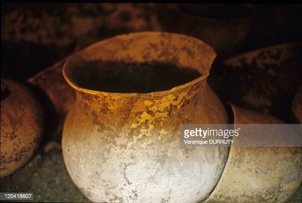 Piece of Pottery Tierradentro Burial Tomb Segovia Site Cauca Colombia The archeological site of Tierradentro is one of Colombia's true hidden gems...