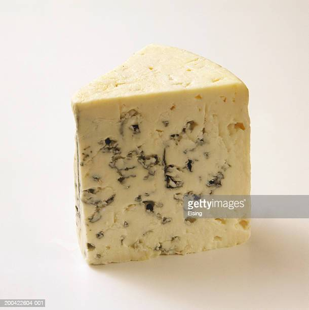 a piece of roquefort - roquefort cheese stock photos and pictures