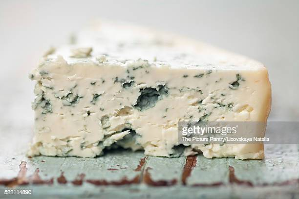Piece of soft blue cheese