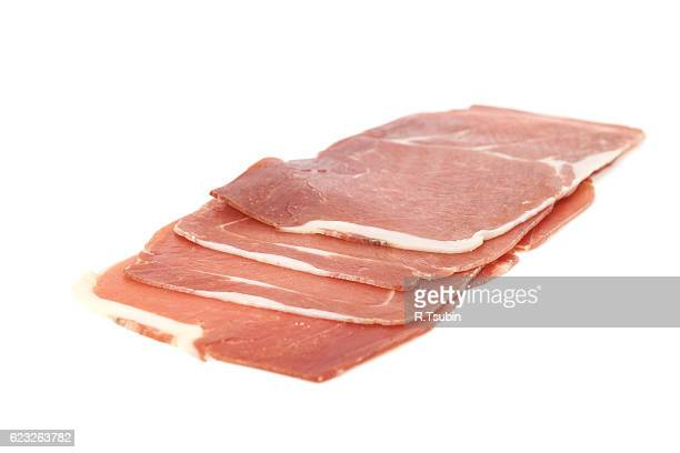 piece of spanish serrano ham