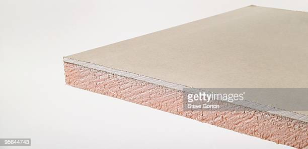 Piece of thick insulating plasterboard
