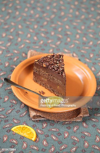 Piece of Vegan Chocolate Orange Truffle Cake