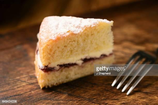 Piece of Victoria Sponge Cake
