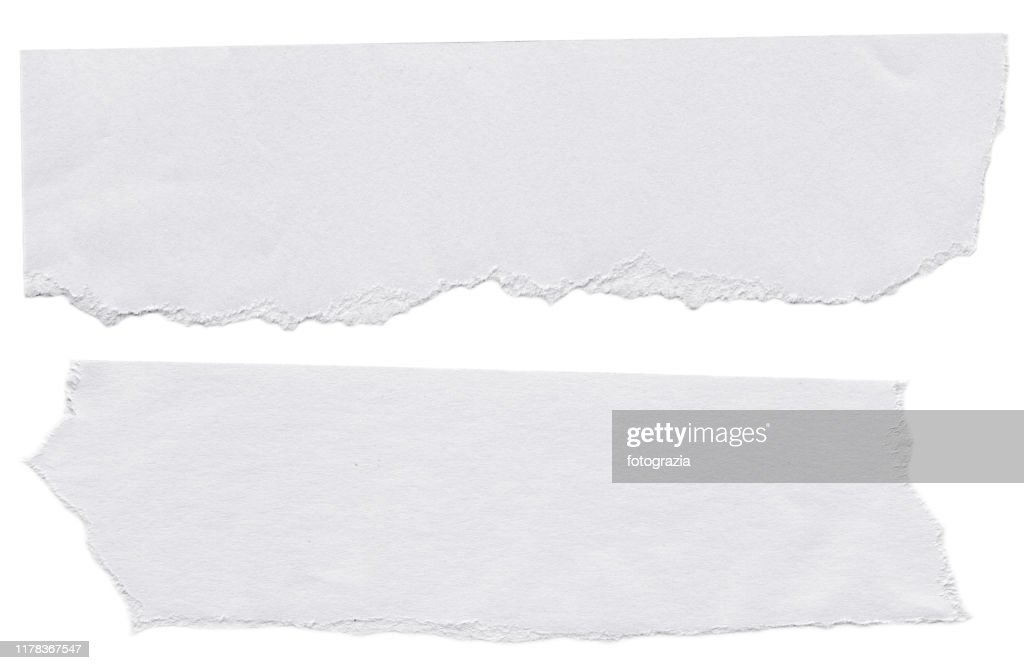 Piece of White Papers on White Background : Stock Photo
