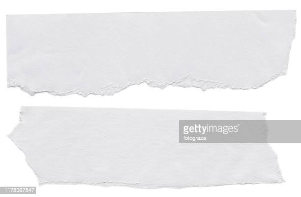 piece of white papers on white background - dokument stock-fotos und bilder