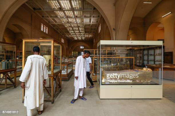 Pieces from the Tutankhamun treasure currently on display at the Museum of Antiquities in Tarhir Square in Cairo