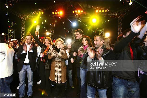 TGV pieces jaunes 2004 operation in Macon In France On January 31 2004 Billy Anne Barrere Mrs Bernadette Chirac David Douillet Aurelie Konate Cheb...
