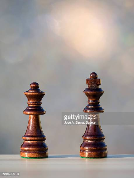 Pieces of chess, king and queen