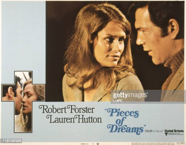Pieces Of Dreams US lobbycard from left Lauren Hutton Robert Forster 1970