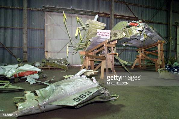 Pieces Of The Wreckage Of The Tail Section Of Alaska