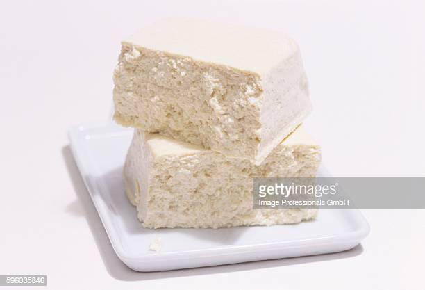 Pieces of tofu