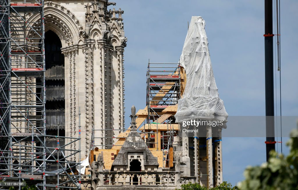 FRA: Renovation Of Notre Dame De Paris