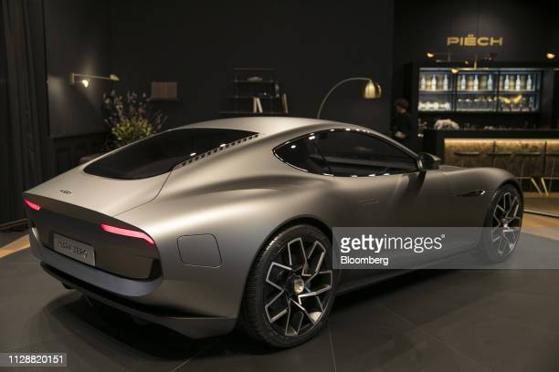 A Piech Mark Zero all electric supercar sits on display on the Piech Automotive AG exhibition stand on day two of the 89th Geneva International Motor...