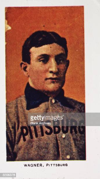 Piedmont cigarettes card of Pittsburgh baseball player Honus Wagner Nicknamed 'The Flying Dutchman' Wagner was a player for 17 years and a coach for...