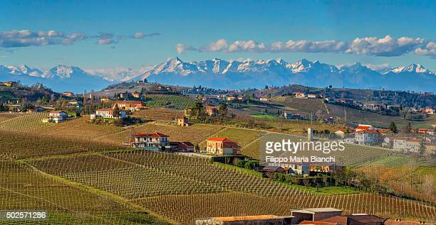 piedmont in autumn - piedmont italy stock pictures, royalty-free photos & images