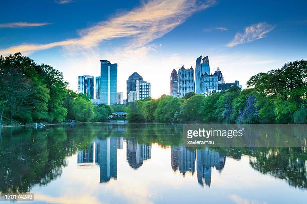 piedmont park - atlanta skyline stock pictures, royalty-free photos & images