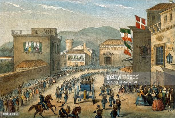 Piedmontese troops entering Gaeta in 1861 Unification era Italy 19th century
