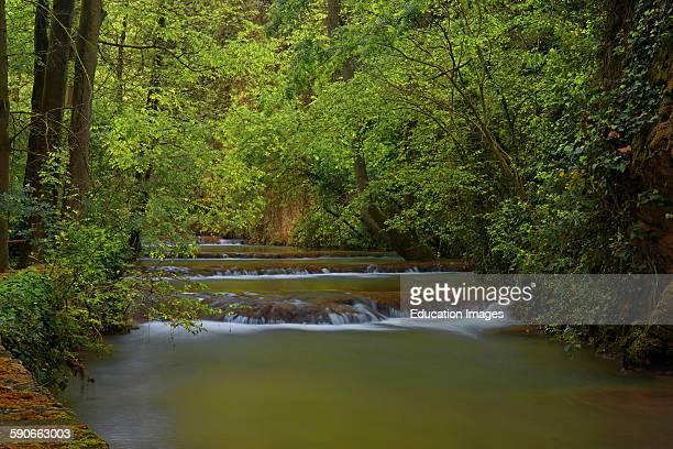 Piedra River Monasterio de Piedra Nuevalos Zaragoza province Aragon Spain