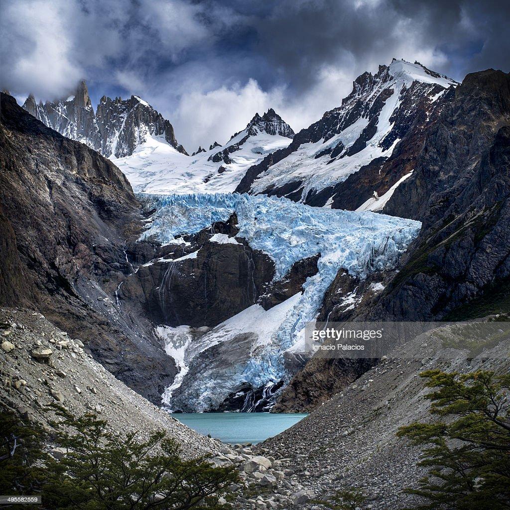 Piedras Blancas lookout and glacier : Stock-Foto