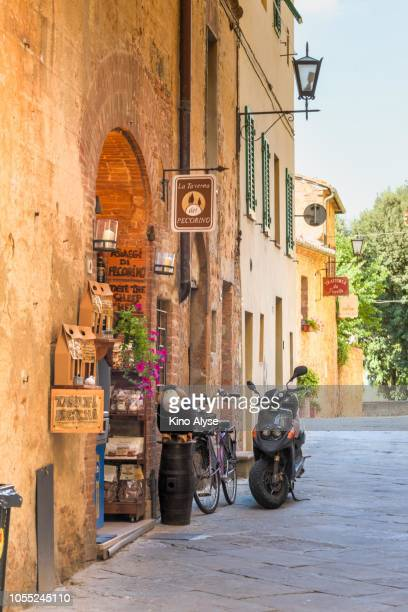 pienza afternoon - cypress tree stock pictures, royalty-free photos & images