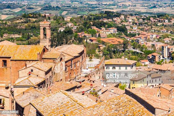 pienza in tuscany - jakob montrasio stock pictures, royalty-free photos & images