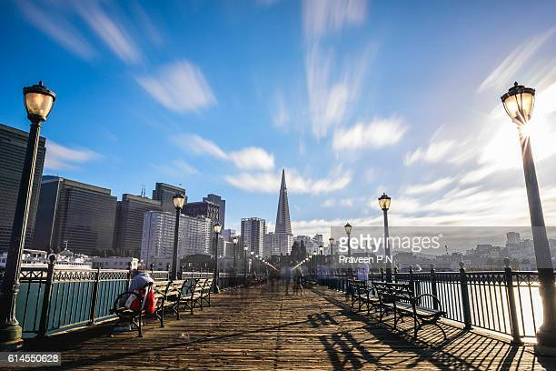 pier 14 san francisco - fishermans wharf stock pictures, royalty-free photos & images