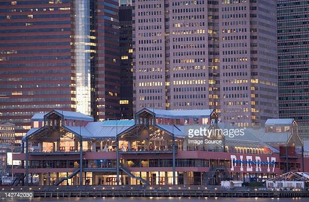 pier 17 building, south street seaport, new york city, usa - south street seaport stock pictures, royalty-free photos & images
