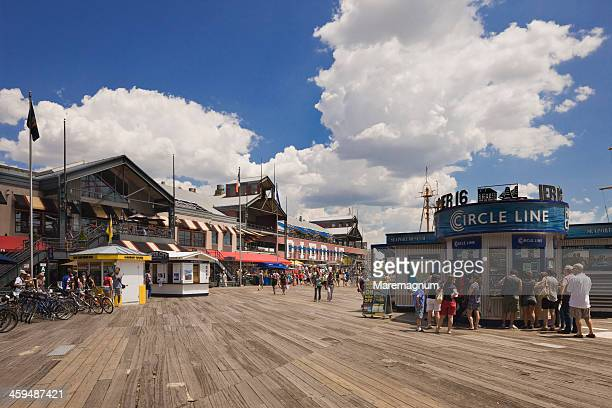 pier 17, south street seaport and the town - south street seaport stock photos and pictures