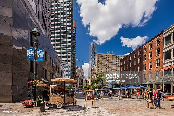 pier 17, south street seaport and the town - south street seaport stock pictures, royalty-free photos & images