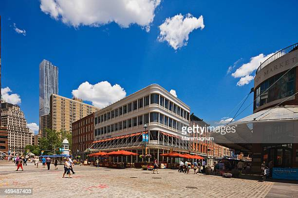 pier 17, south street seaport - south street seaport stock photos and pictures