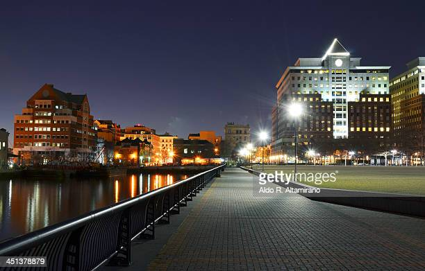 pier a park, hoboken, nj, long exposure - hoboken stock pictures, royalty-free photos & images