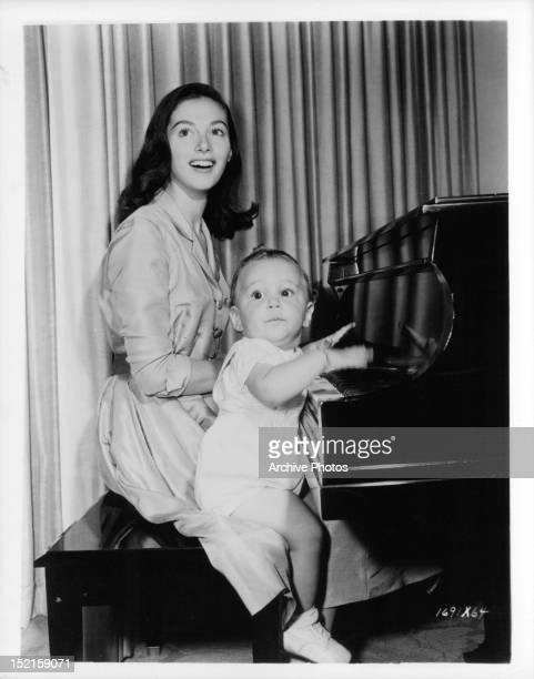 Pier Angeli publicity portrait with son Perry Circa 1955