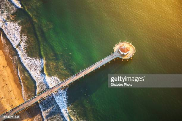 pier angle - city of los angeles stock pictures, royalty-free photos & images