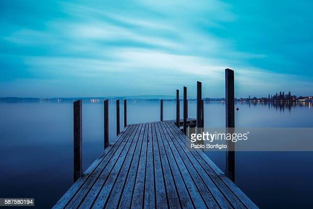 Pier at Lake Zug, Switzerland