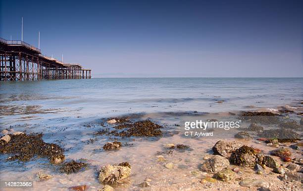 pier at mumbles - mumbles stock photos and pictures