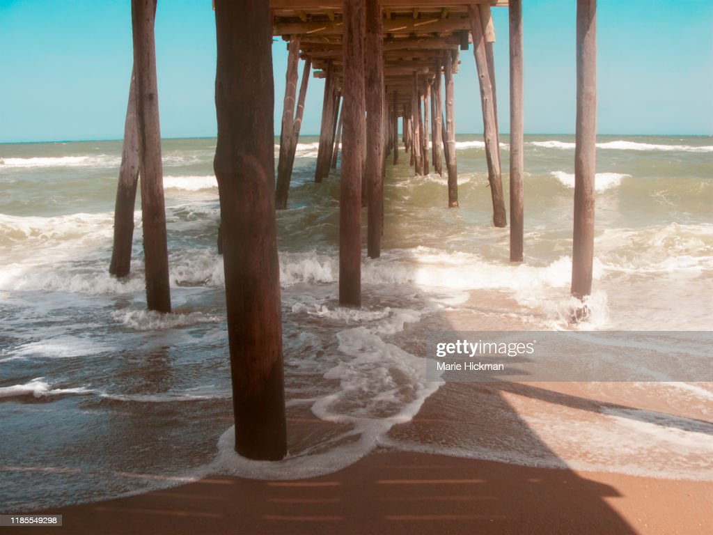 Pier At Nags Head North Carolina In The Outerbanks After Pier Was