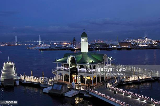 Pier at night, Yokohama City, Kanagawa Prefecture, Honshu, Japan