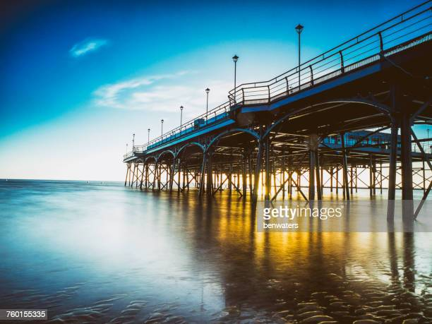 Pier at sunrise, Cleethorpes, Lincolnshire, England, UK