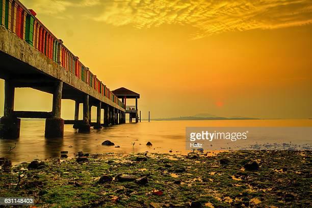 Pier at sunset, Johor, Malaysia
