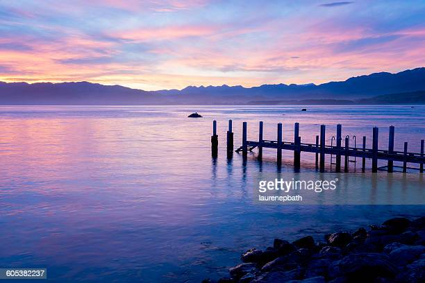 Pier at Sunset, Kaikoura, New Zealand