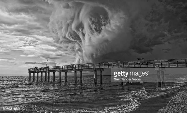 Pier at the storm - film moir