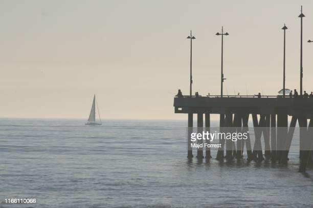 pier at venice beach, california - ベニスビーチ ストックフォトと画像