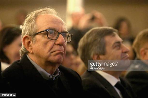 Pier Carlo Padoan attends Benvenuto Brunello 2018 at Teatro degli Astrusi on February 17 2018 in Montalcino Italy
