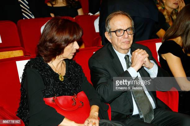 Pier Carlo Padoan attends the 'Hostiles' premiere during the 12th Rome Film Fest at Auditorium Parco Della Musica on October 26 2017 in Rome Italy