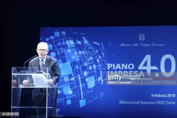 Pier Carlo Padoan Italy's finance and Economy minister during the presentation of results of Piano Impresa 40 Innovazione e competenze
