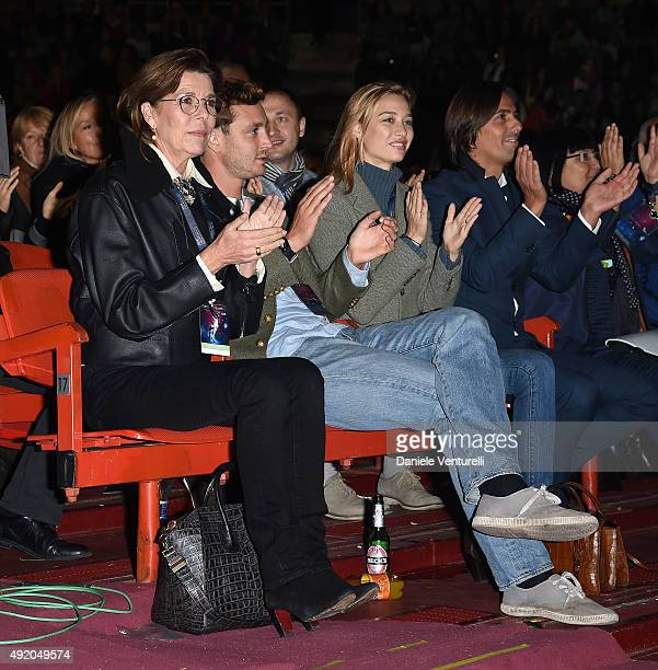 Pier Casiraghi and Beatrice Borromeo attends Intimissimi On Ice 2015 on October 9 2015 in Verona Italy