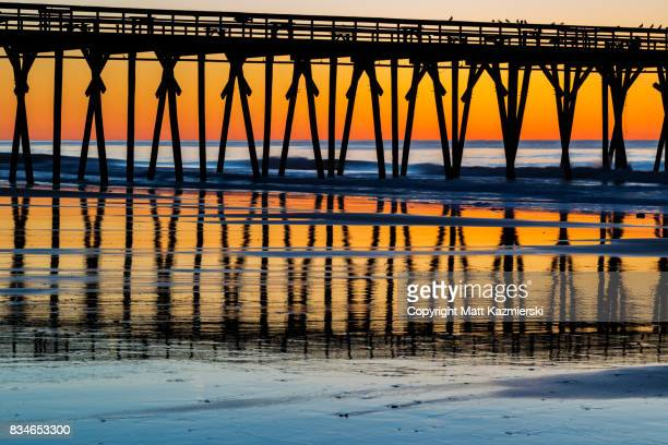 pier color reflections - file:myrtle_beach,_south_carolina.jpg stock pictures, royalty-free photos & images